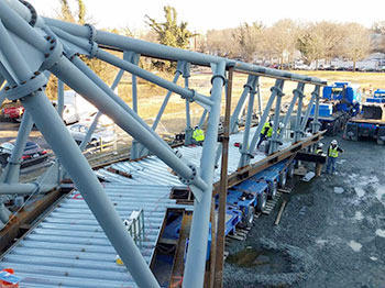Ballston Bridge-installing strain gauges