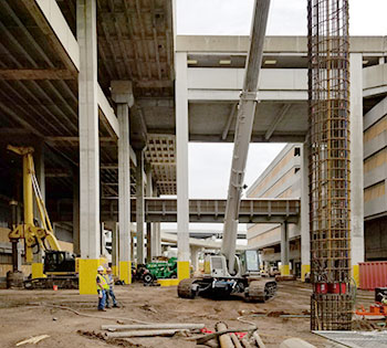 Foundation work at Tampa Airport