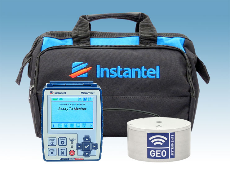 Instantel Micromate Seismograph for manual vibration monitoring