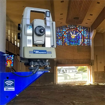 AMTS monitoring renovation of church interior