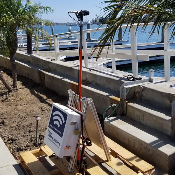 Monitoring vibration and noise at Seawall