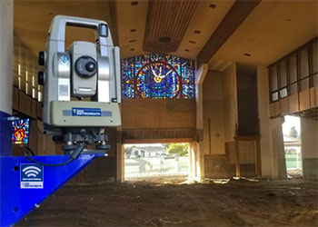 AMTS monitoring church structure during renovation