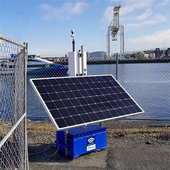 Dust Monitor with Solar Panel