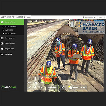 GEO team demobilizing GeoCam at HSR site