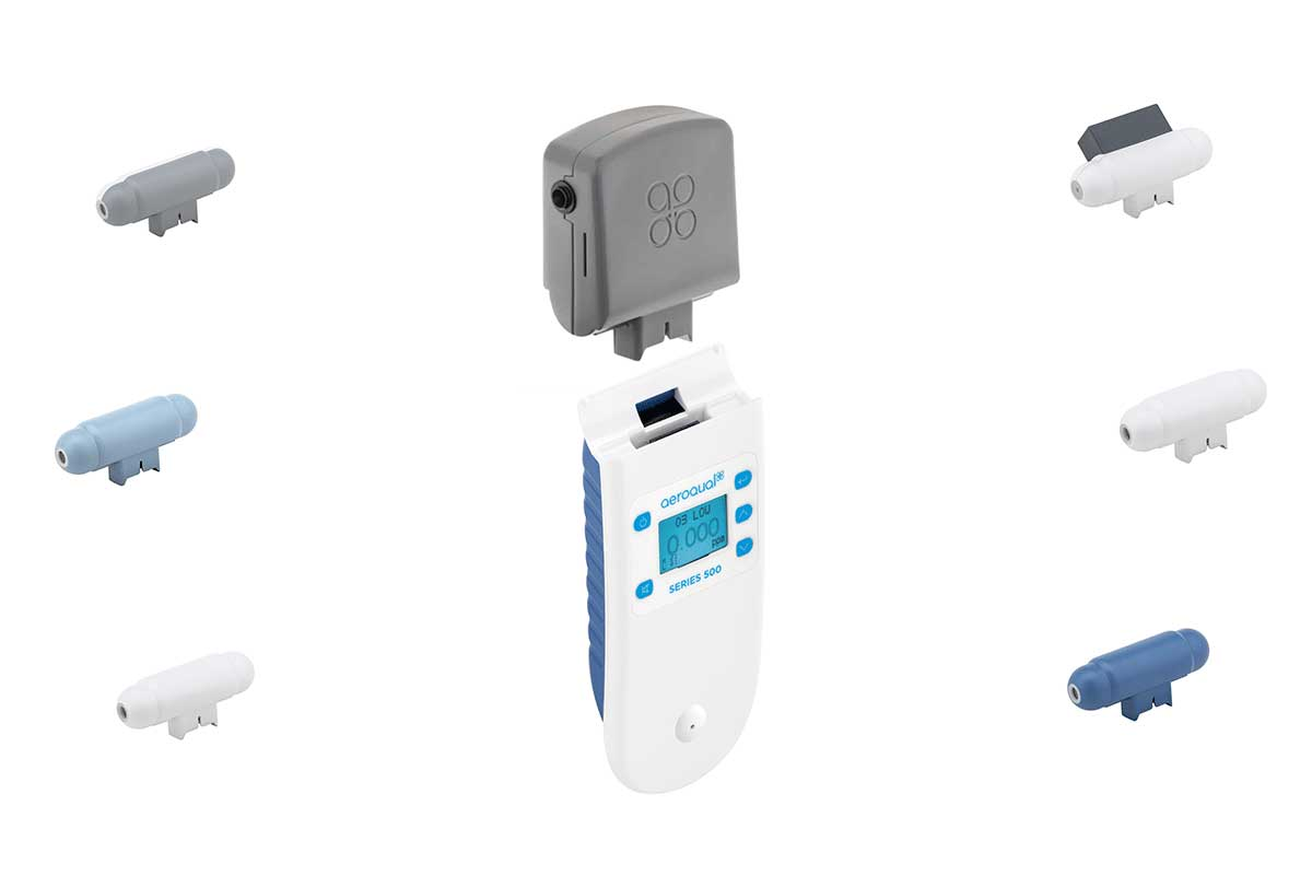 Aeroqual portable particulate monitor with optional sensors