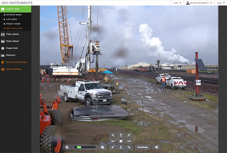 GeoCam Construction Camera Screen shot