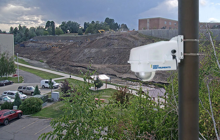 GeoCam monitoring construction site