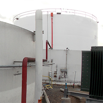 Settlement Oil Storage Tanks